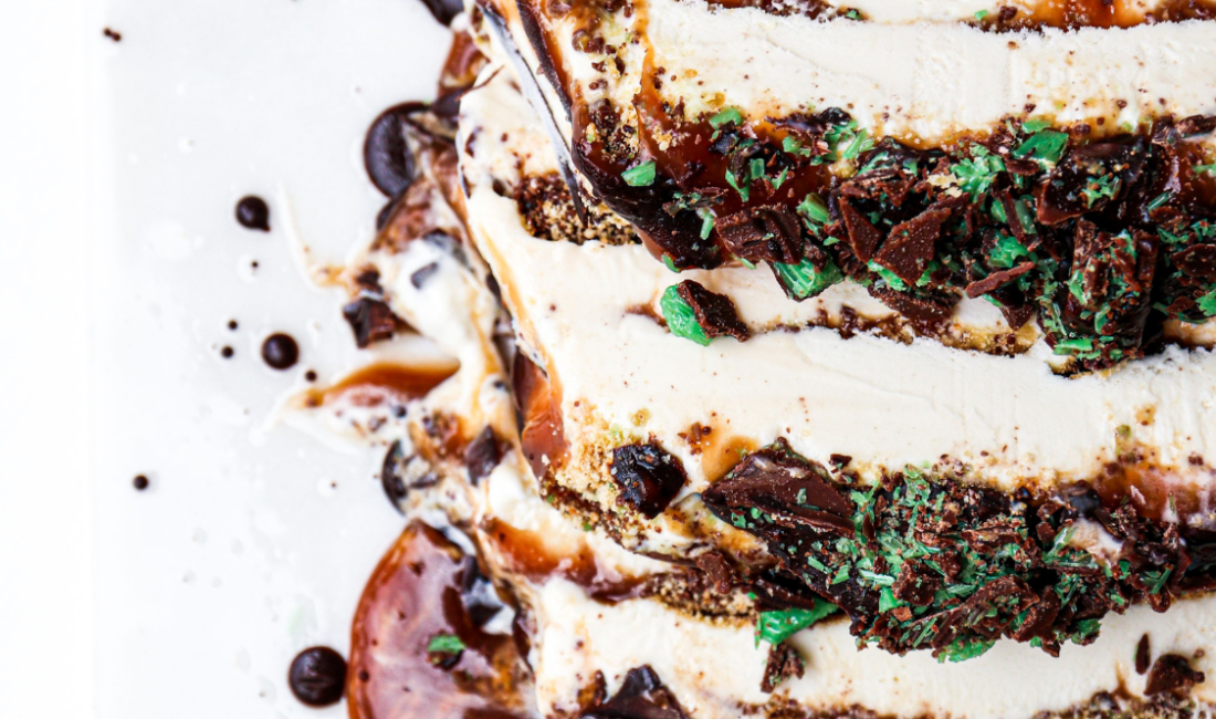 Peppermint Crisp Ice Cream Parfait
