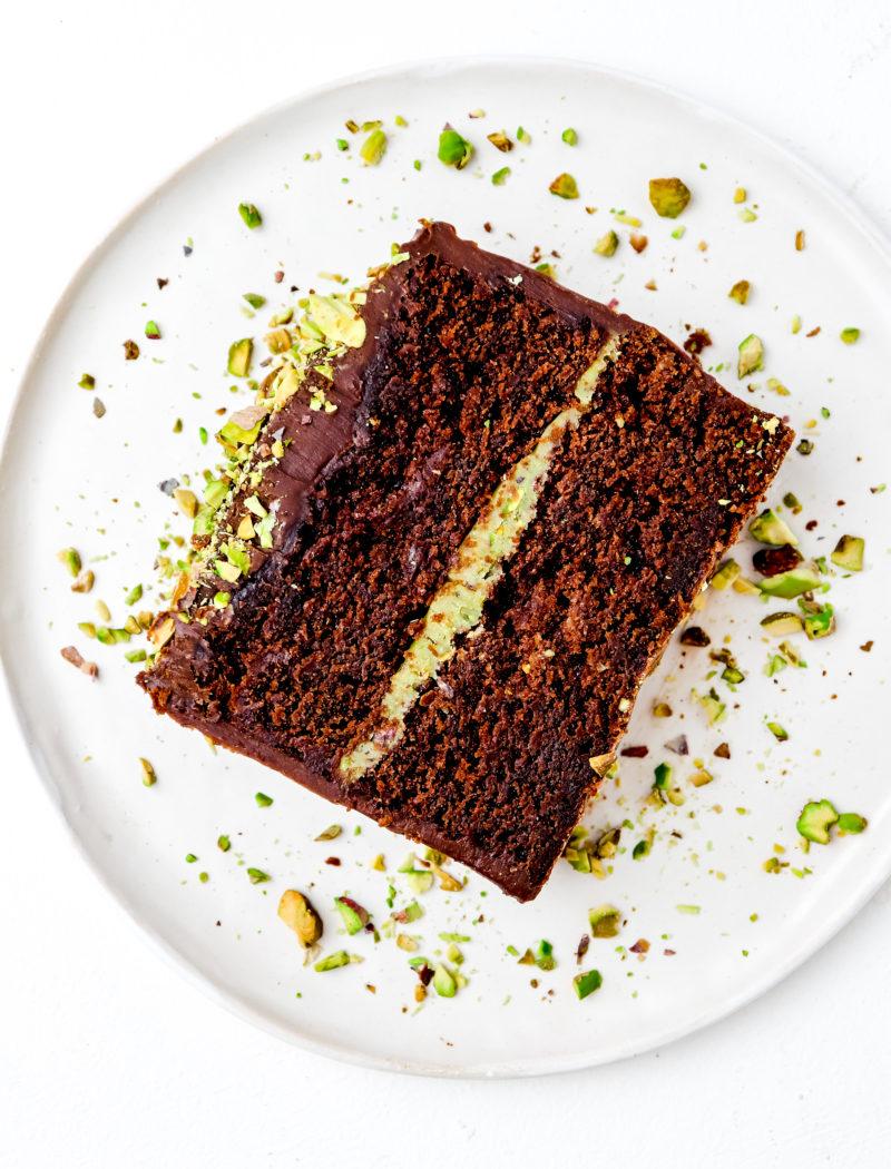 Chocolate Fudge & Pistachio Cakelette