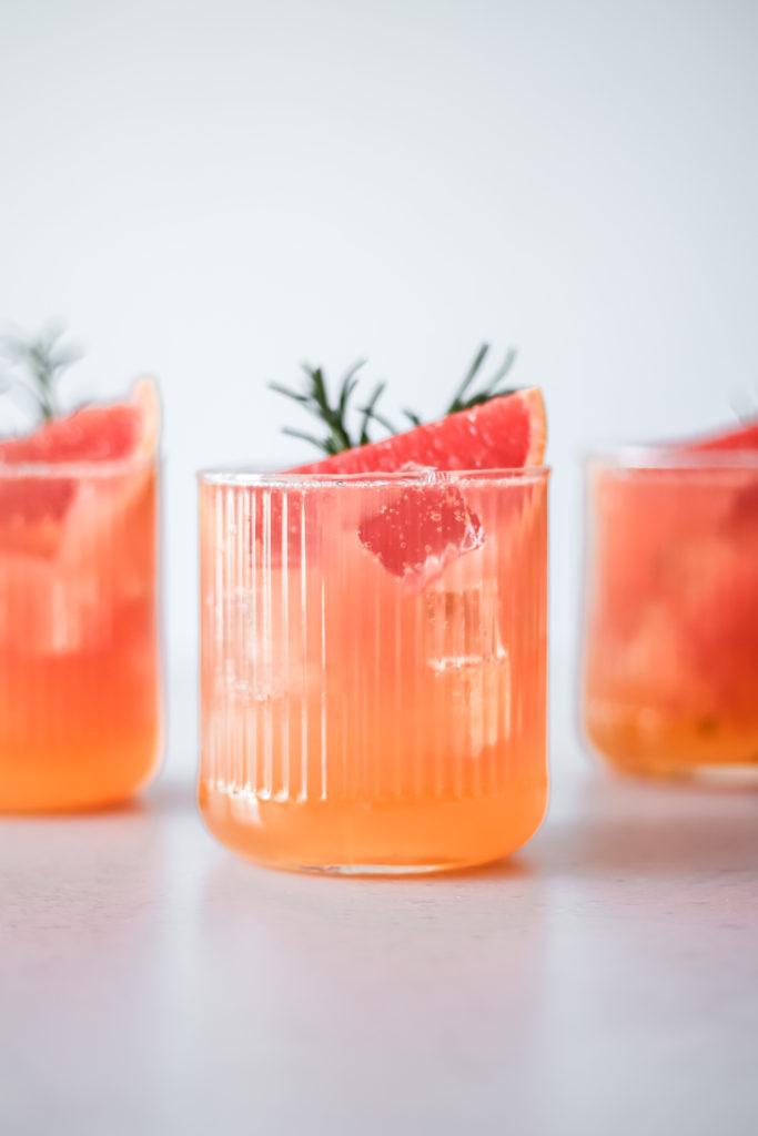 Ruby Grapefruit & Rosemary Sodas